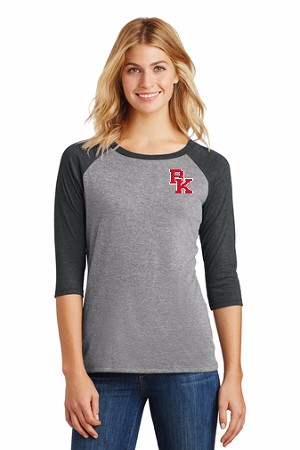 3/4 Sleeve Grey Ladies T-shirt